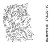 coloring book pages with indian ... | Shutterstock .eps vector #373101460