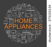 icons of home appliances... | Shutterstock .eps vector #373103134