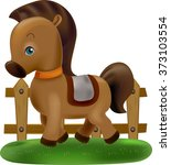 Illustration Of A Cute Horse...