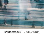 busy people walking | Shutterstock . vector #373104304