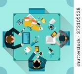 office teamwork concept | Shutterstock . vector #373105528