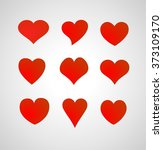 set of hearts | Shutterstock .eps vector #373109170