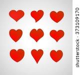 set of hearts | Shutterstock .eps vector #373109170