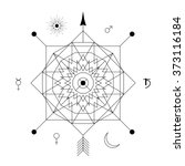 mystical geometry symbol.... | Shutterstock .eps vector #373116184