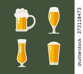 set of cold beer icons. vector... | Shutterstock .eps vector #373118473