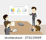 businessmen have a meeting | Shutterstock .eps vector #373119049