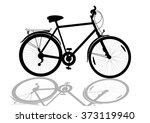 black bike silhouette isolated... | Shutterstock . vector #373119940