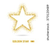 golden star vector banner on... | Shutterstock .eps vector #373120489
