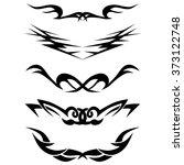tattoo tribal lower back... | Shutterstock .eps vector #373122748