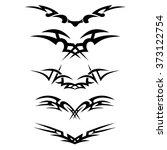 tattoo. stencil. pattern.... | Shutterstock .eps vector #373122754