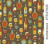 seamless pattern with cocktails ... | Shutterstock .eps vector #373127620
