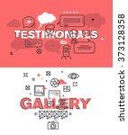 set of modern vector... | Shutterstock .eps vector #373128358