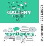 set of modern vector...   Shutterstock .eps vector #373128376