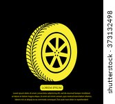 wheel icon | Shutterstock .eps vector #373132498
