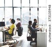 business computer communication ... | Shutterstock . vector #373135948