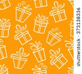 seamless pattern with gift... | Shutterstock .eps vector #373138336