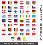 51 flags of all the european... | Shutterstock .eps vector #373138978