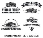 set of suv pickup car vector... | Shutterstock .eps vector #373139668