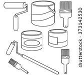 Vector Set Of Paint Bucket And...