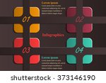 infographic templates for... | Shutterstock .eps vector #373146190
