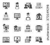 e learning icons set | Shutterstock . vector #373149298