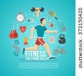 fitness concept illustration   Shutterstock . vector #373150420