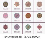 mandala. vintage decorative... | Shutterstock .eps vector #373150924