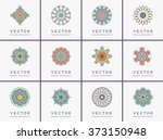 mandala. vintage decorative... | Shutterstock .eps vector #373150948
