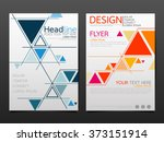 business brochure flyer design... | Shutterstock .eps vector #373151914