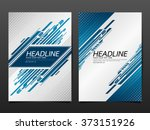 business brochure flyer design... | Shutterstock .eps vector #373151926