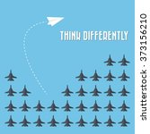 think differently   being... | Shutterstock .eps vector #373156210