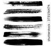 various vector black brush... | Shutterstock .eps vector #373156474
