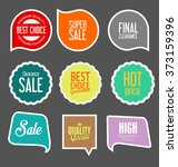 modern sale stickers collection | Shutterstock .eps vector #373159396