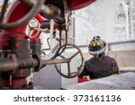 firemen in action | Shutterstock . vector #373161136
