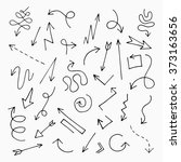 hand drawn arrow set  vector... | Shutterstock .eps vector #373163656