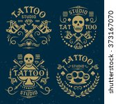 tattoo studio or salon set of... | Shutterstock .eps vector #373167070