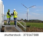 technicians engaged in the... | Shutterstock . vector #373167388
