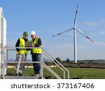 technicians engaged in the... | Shutterstock . vector #373167406