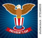presidents day design  vector... | Shutterstock .eps vector #373168033
