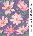 floral seamless pattern with... | Shutterstock .eps vector #373168114
