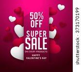 valentine's day celebration... | Shutterstock .eps vector #373170199