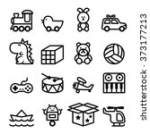 line toy icons set | Shutterstock .eps vector #373177213