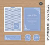 wedding invitation or greeting... | Shutterstock .eps vector #373178128