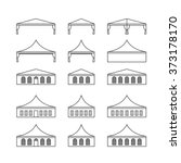 icon set of various types event ... | Shutterstock .eps vector #373178170