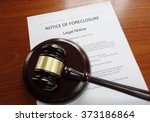 home foreclosure document with... | Shutterstock . vector #373186864