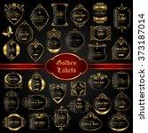 vintage gold framed labels  ... | Shutterstock .eps vector #373187014