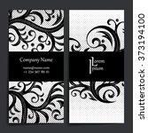 set of vector design templates. ... | Shutterstock .eps vector #373194100