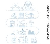 vector amusement park...   Shutterstock .eps vector #373195354