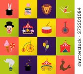 set of sixteen color and bright ... | Shutterstock .eps vector #373201084