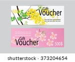 gift voucher for marketing... | Shutterstock .eps vector #373204654